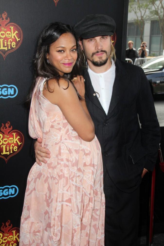 Zoe Saldana et Marco Perego à Los Angeles le 12 octobre 2014