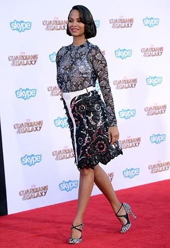 Zoe Saldana à Los Angeles le 21 juillet 2014