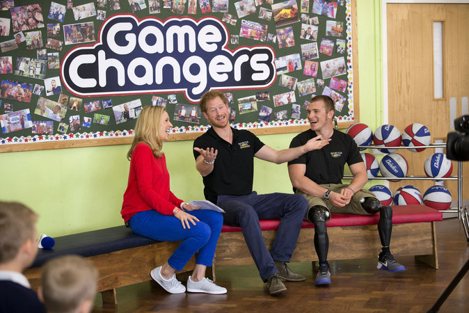 "Prince Harry à l'enregistrement de l'émission de la chaîne de télévision Sky Sports ""Game Changers"""