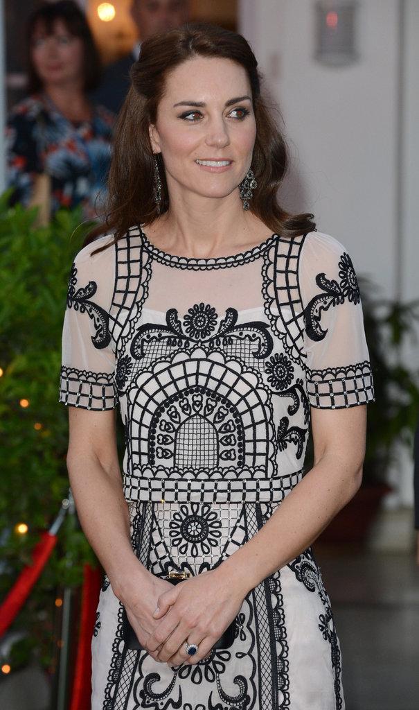 Le Prince William et la Princesse Kate à la Haute Commission britannique de New Delhi, lundi 11 avril