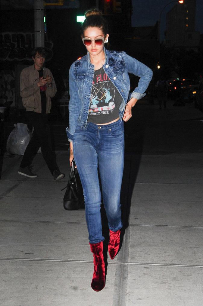 Gigi Hadid et sa veste en jean