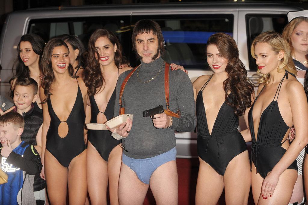 Sacha Baron Cohen, toujours aussi drôle à la première de son dernier film Grimsby