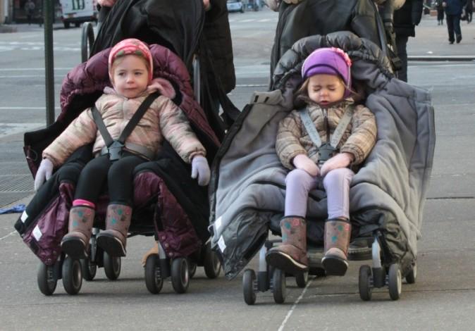 Sarah Jessica Parker et ses filles Marion et Tabitha, New York, 22 janvier 2013.