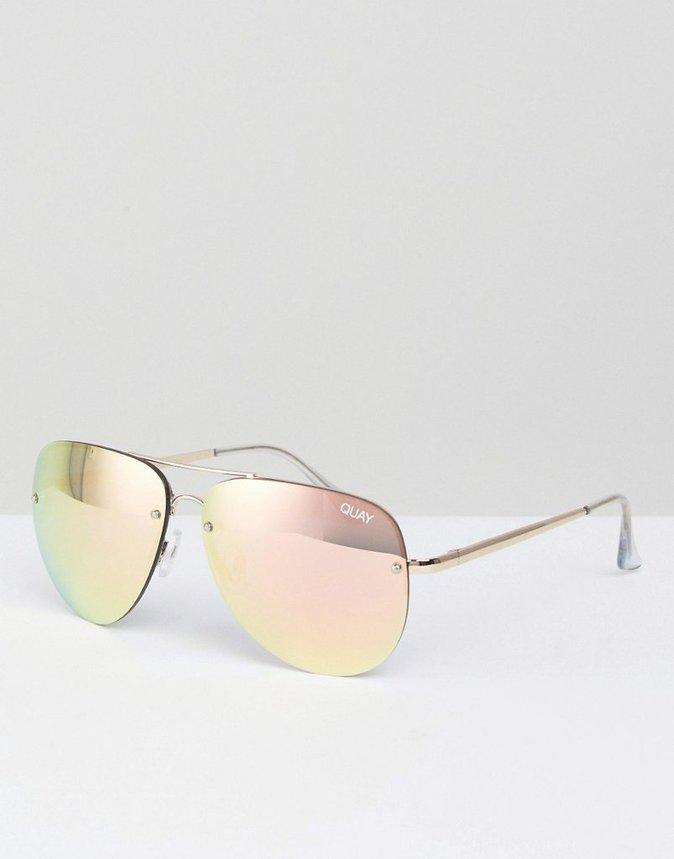 Des lunettes de soleil aviateur oversize - Quay Australia - 53,99€