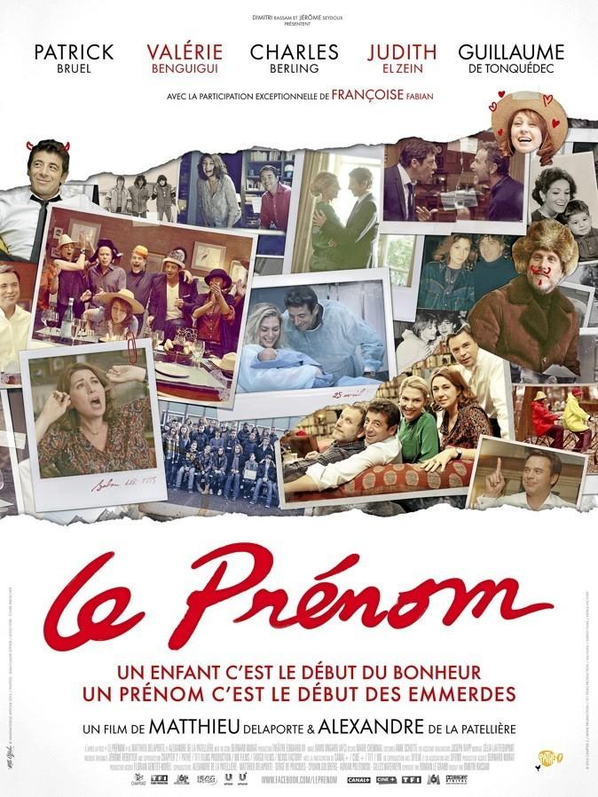 """L'affiche du film """"Le prénom"""" !"""