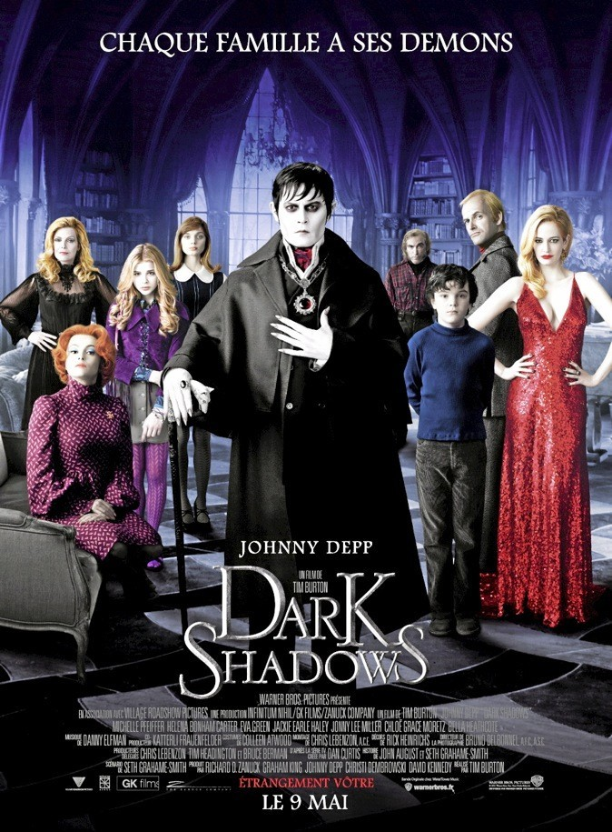 "L'affiche du film ""Dark Shadows"" de Tim Burton avec Johnny Depp"