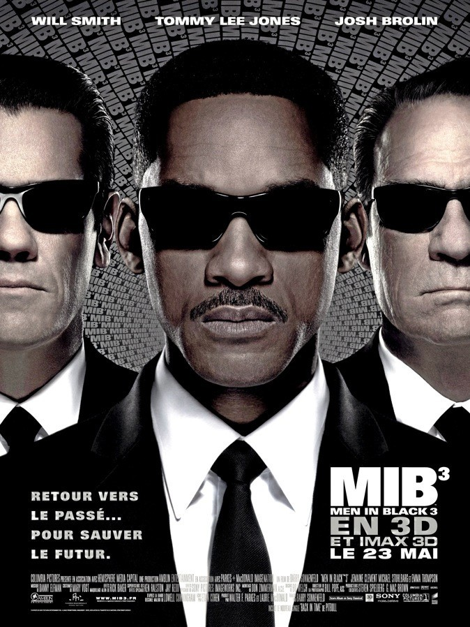 L'affiche du film Men in Black III avec Will Smith !