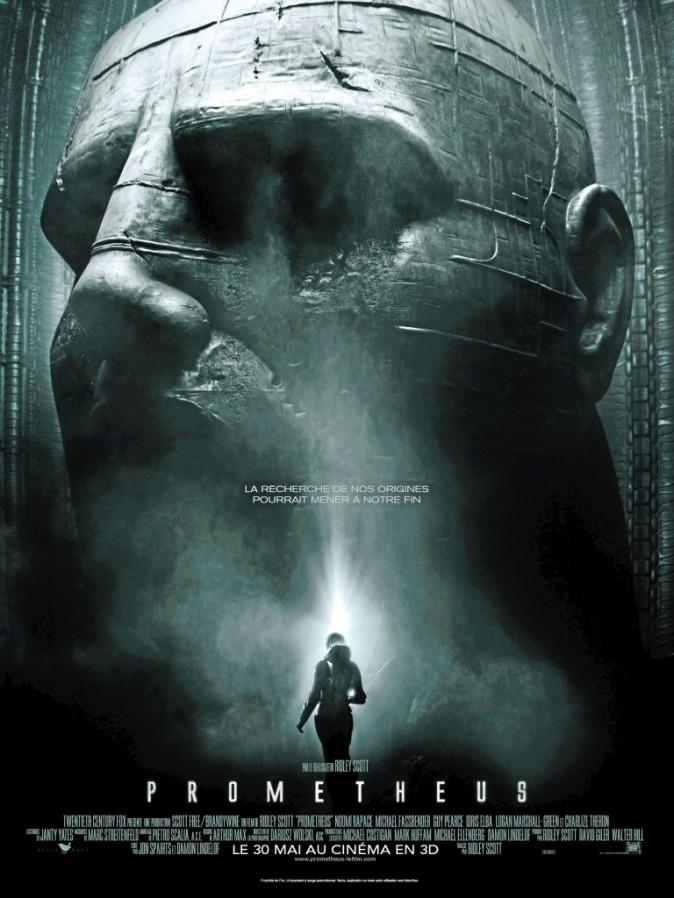 L'affiche du film Prometheus avec Charlize Theron et Noomi Rapace !