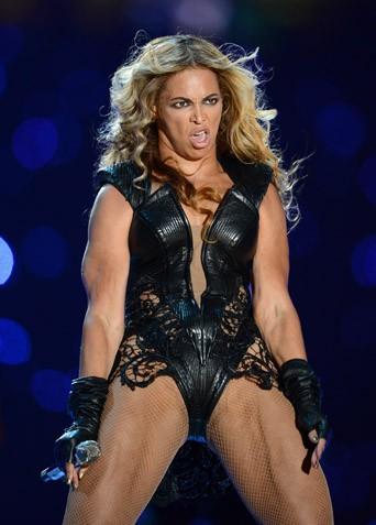 New Orleans 04/02/2013 : Beyoncé : Partante pour une grimace party ?