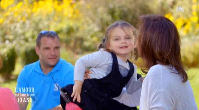 Fabien et Alexia avec leur fille Chiara