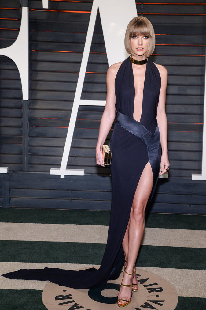 Taylor Swift a fait sensation à la Vanity Fair Oscar Party