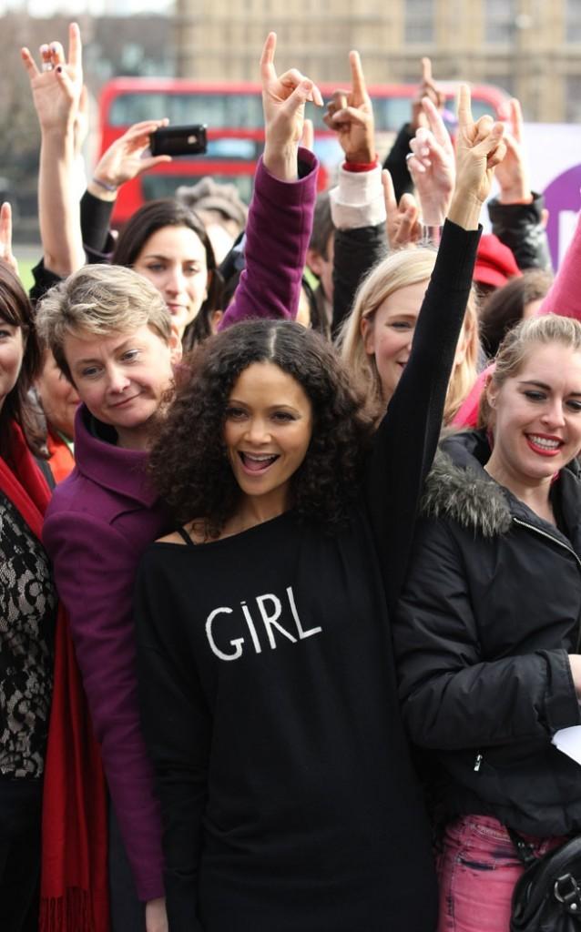 Thandie Newton le 14 février 2013 à Londres