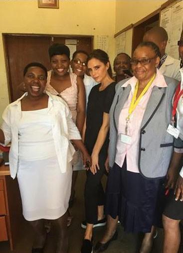 Victoria Beckham en voyage humanitaire en Afrique du Sud pour l'ONU