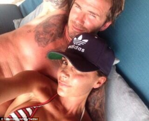 Victoria Beckham en compagnie de son mari David le jour de ses 40 ans !