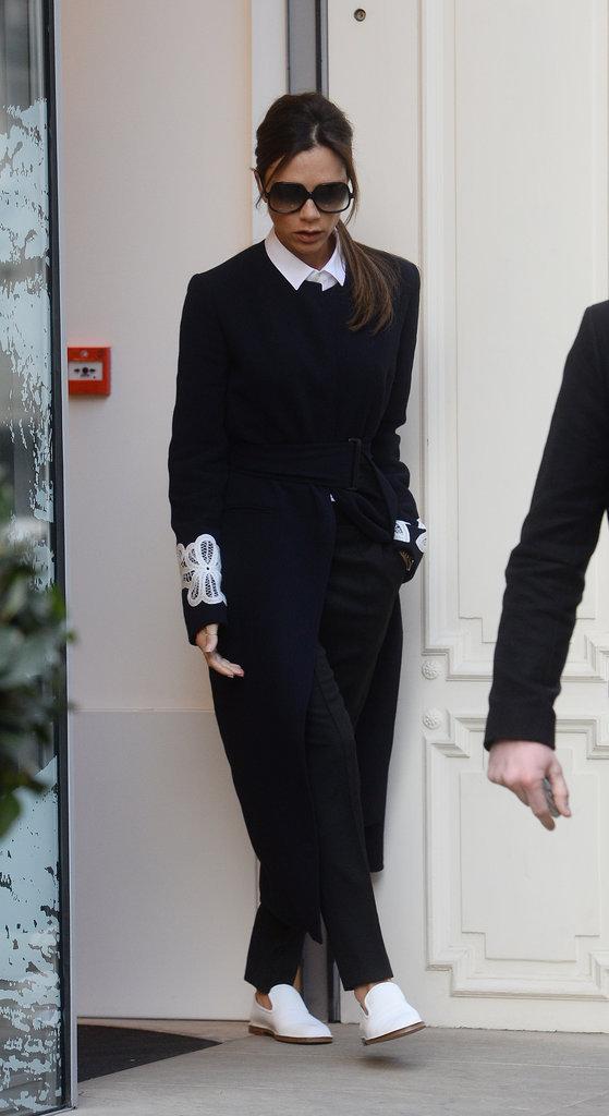 Victoria Beckham : look�e pour se rendre � son magasin de Londres !
