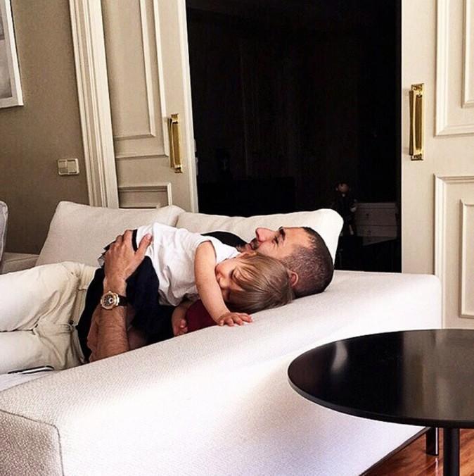 Karim Benzema, complètement gaga de sa petite Mélia