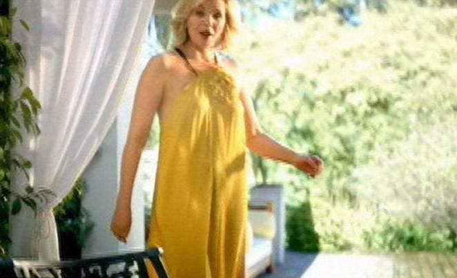 "Kim Cattrall ambassadrice de la marque de margarine ""I Can't Believe It's Not Butter""."