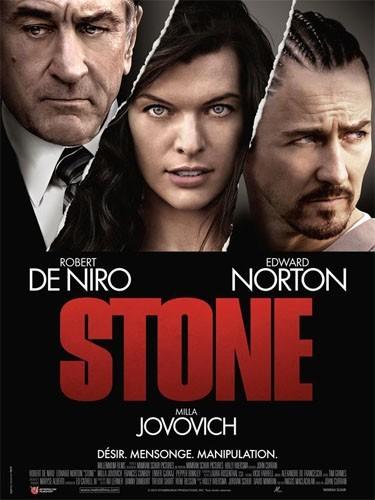 Stone, un triangle crimnel entre Milla Jovovich, Edward Norton et Robert de Niro !