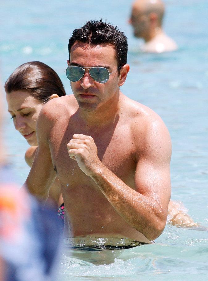 Xavi et sa compagne Nuria en juin 2015