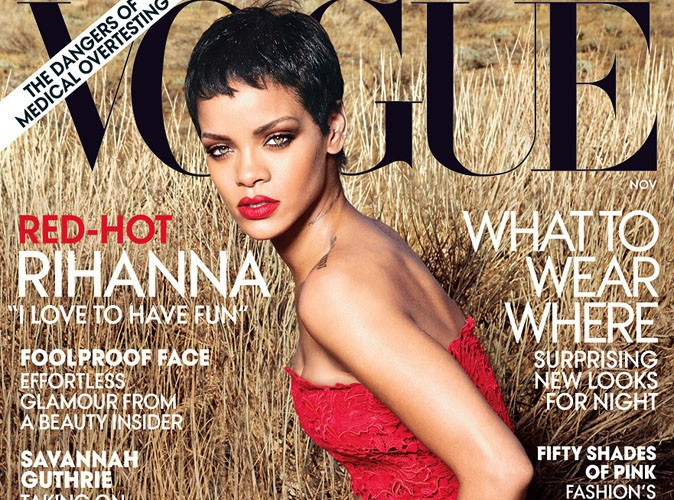 "Rihanna : délicieusement ""red hot"" pour sa seconde couverture du Vogue US !"