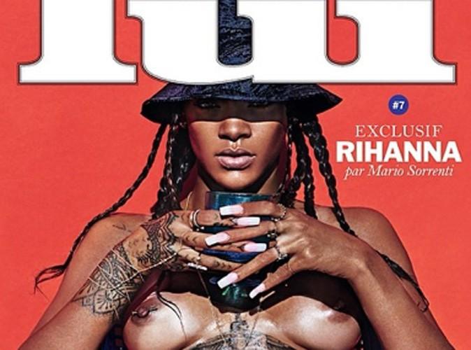 Rihanna : luisante, bronzée et les seins à l'air pour Lui Magazine !