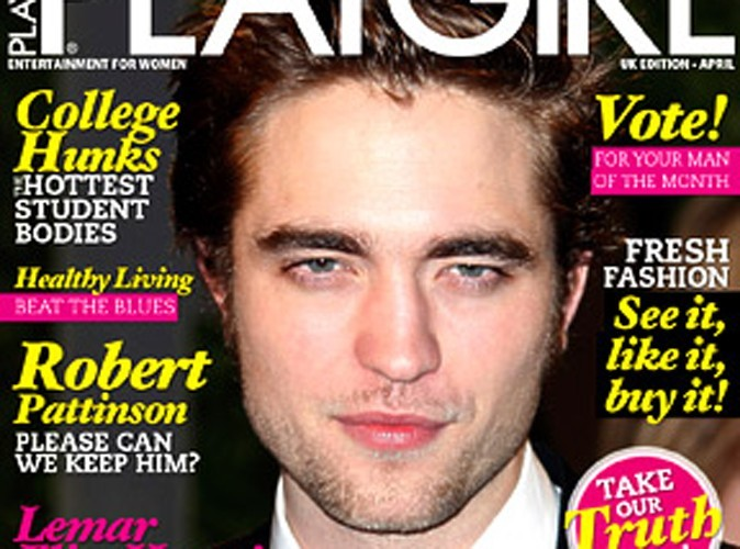 Robert Pattinson à la Une de Playgirl !