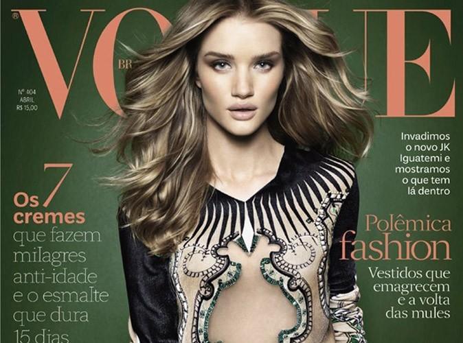 Rosie Huntington-Whiteley : une cover-girl saisissante qui s'offre la une de Vogue !