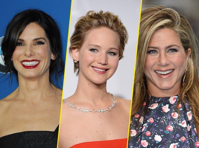 Sandra Bullock, Jennifer Lawrence et Jennifer Aniston en tête des actrices les mieux payées de l'année !