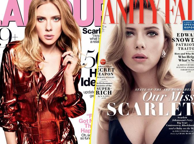 Scarlett Johansson : cover girl doublement glamour et super sensuelle !