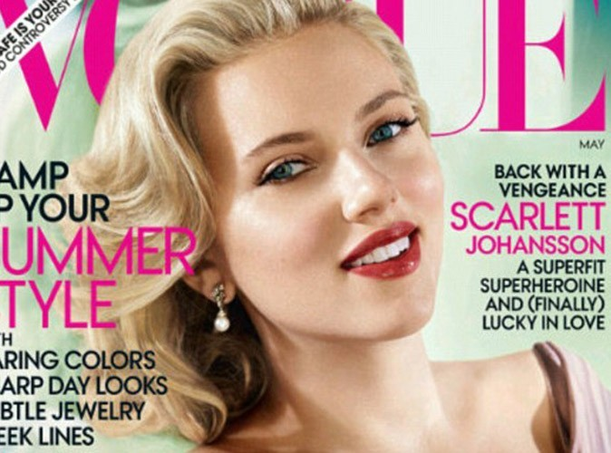 Scarlett Johansson, glamour en couverture de Vogue, parle de sa relation avec Sean Penn !