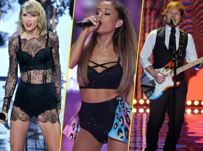 Taylor Swift, Ariana Grande, Ed Sheeran... Découvrez leurs prestations au défilé Victoria's Secret !