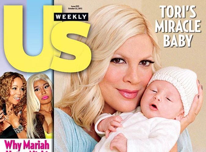 Tori Spelling : elle vous présente son bébé miracle, Finn !