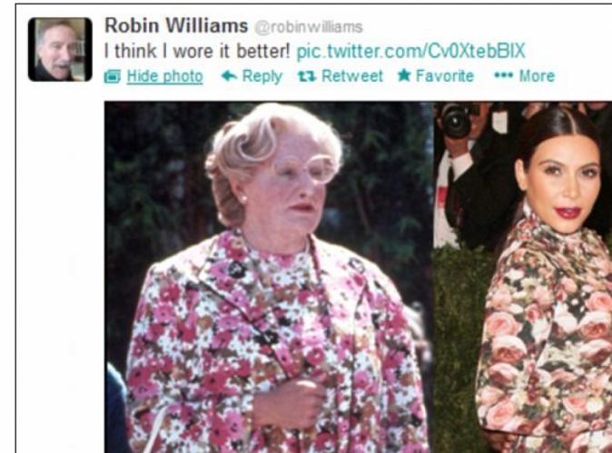 """La VDM people : """"Ridiculisée par Robin Williams"""""""