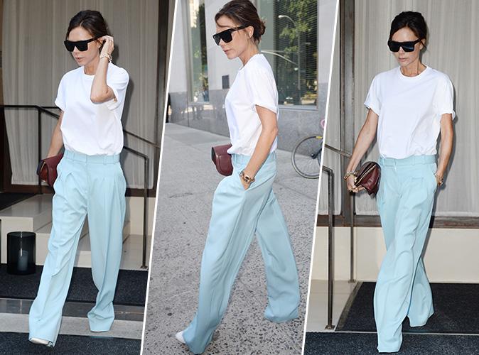 Victoria Beckham : Comment porter le pantalon palazzo sans effort...
