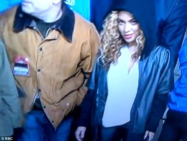 Beyonce au concert de Jay-Z lors du le Radio 1's Hackney Festival, le 23 juin 2012.