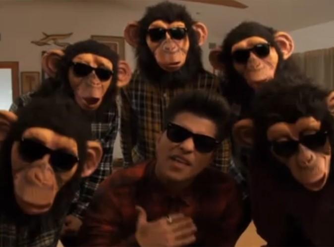Vidéo : Bruno Mars, son nouveau clip provoque des secousses simiesques !