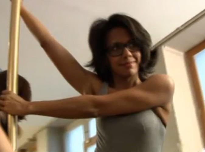 Vidéo Buzz : Audrey Pulvar teste la pole dance !