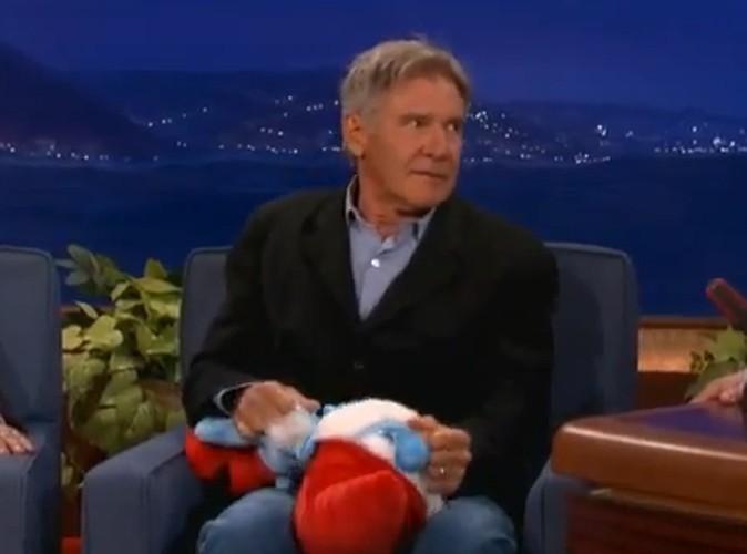 Vidéo : Harrison Ford : fou de rage, il décapite le Grand Schtroumpf !