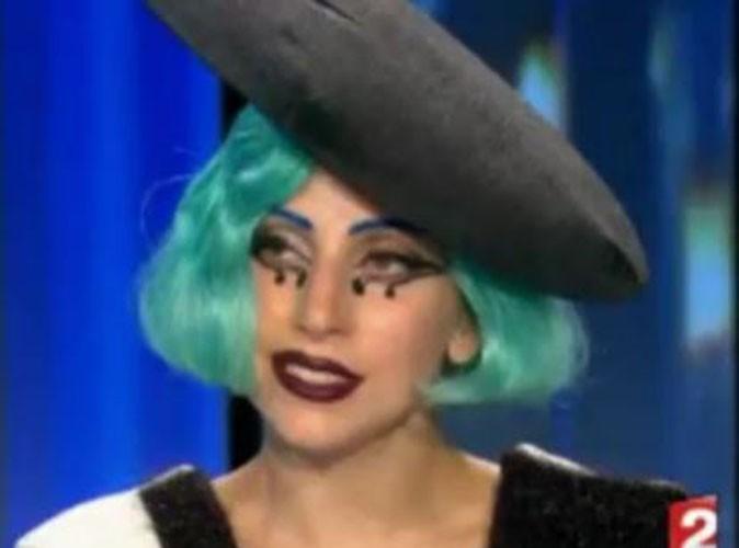 """Vidéo : Lady Gaga, calme sur le plateau du JT de France 2 : """"J'aime être considérée comme une provocatrice"""""""