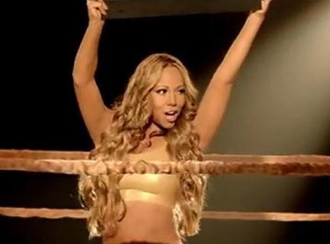 Vidéo : Mariah Carey : elle monte sur le ring pour le clip de Triumphant !