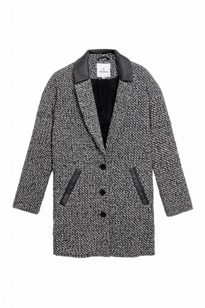 Manteau détails en similicuir, K by Kookaï sur La Halle 79 €