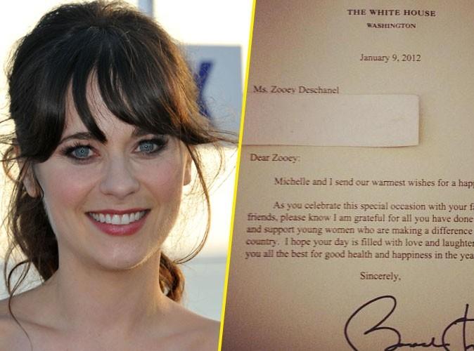 Zooey Deschanel : elle a reçu une lettre des Obama pour son anniversaire !
