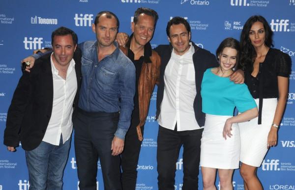 Jude Law et toute l'équipe du film Dom Hemingway au festival de Toronto, le 11 septembre 2013