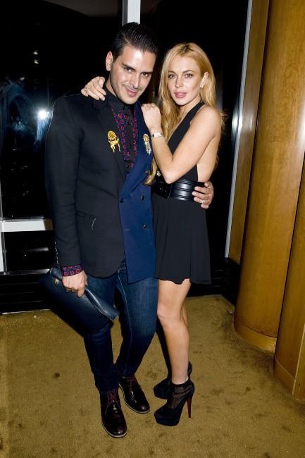Lindsay Lohan et Markus Molinari à la soirée du magazine Purple, le 11 septembre 2013 à New York