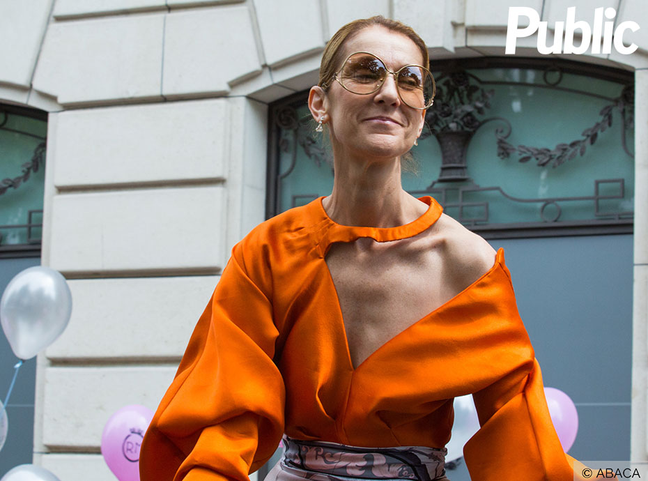 Céline Dion fait son défilé en marge de la Fashion Week à Paris