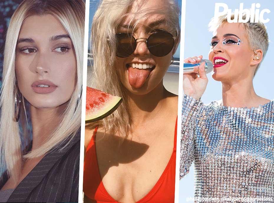 Hailey Baldwin, Katy Perry, Karlie Kloss... Ces stars désormais blondes plaine !
