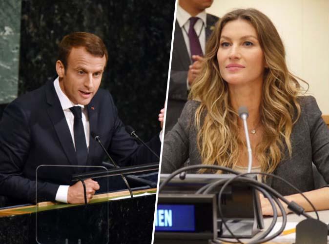 Emmanuel Macron et Gisele Bündchen à l'ONU : c'est le coup de foudre !