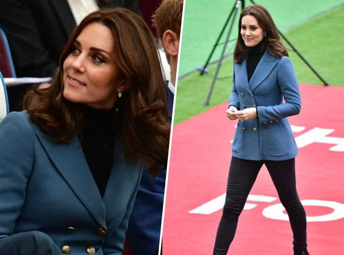 Public Royalty : Kate Middleton : son ensemble blazer-jean, pour toutes celles qui ont du ventre !